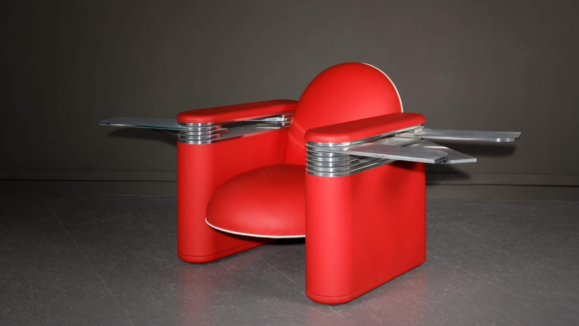 Le tabouret Pleats, de la designer Odile Decq, réalisé par Domeau et Pérès
